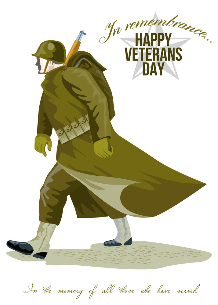 World War Two Veterans Day Greeting Card