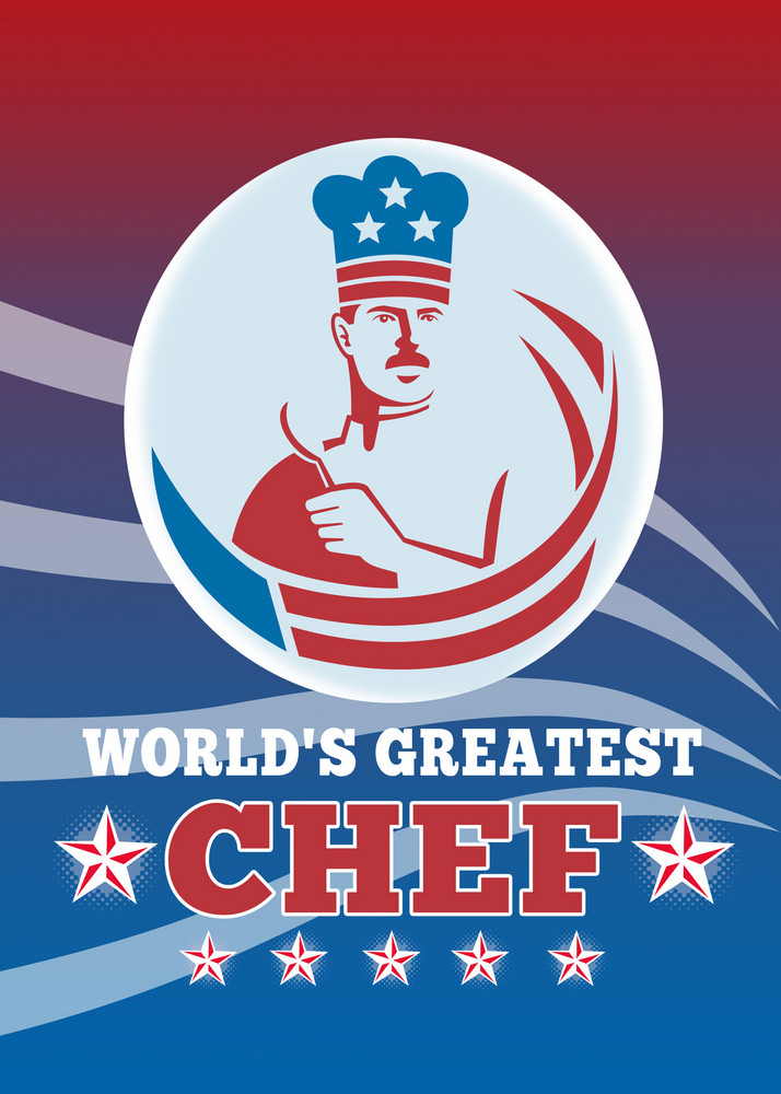 World's Greatest American Chef Greeting Card Poster