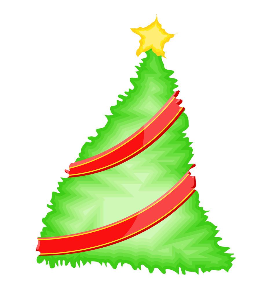 Wrapped Ribbon Christmas Tree