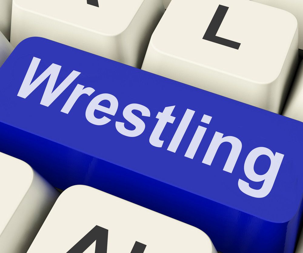 Wrestling Key Shows Wrestler Fighting Or Grappling Online