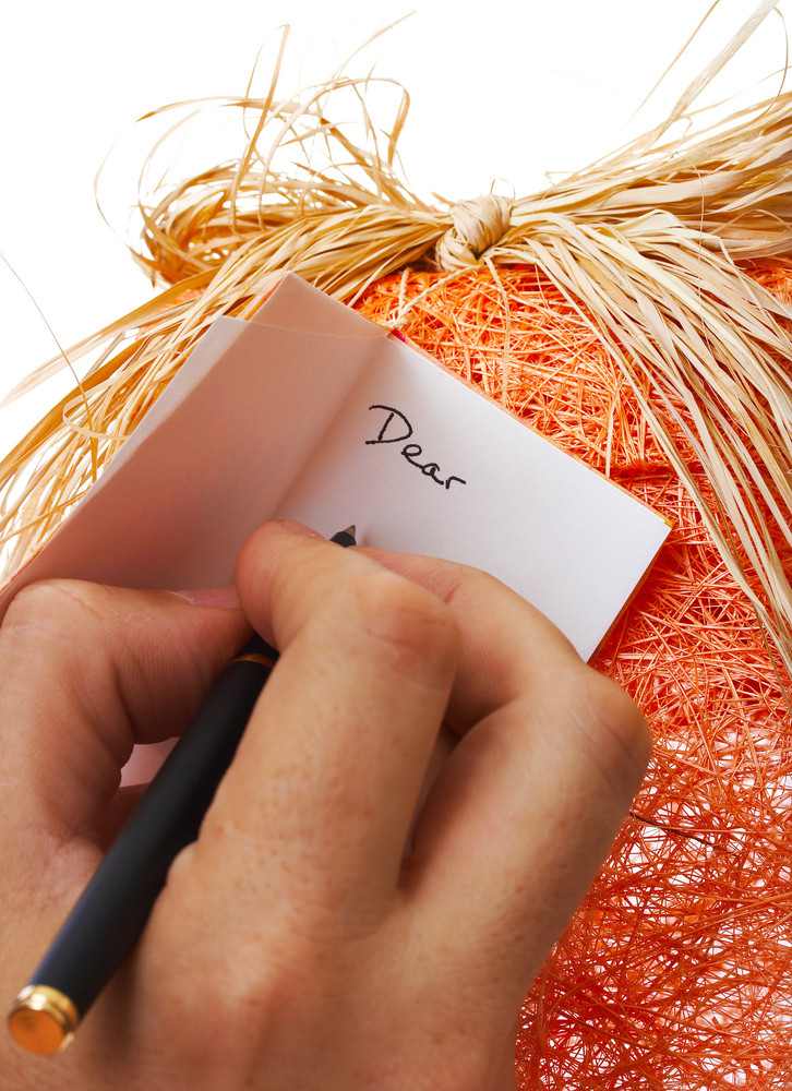 Writing A Message On A Gift