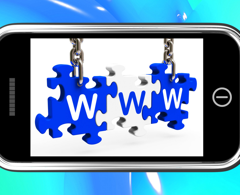 Www On Smartphone Shows Online Search