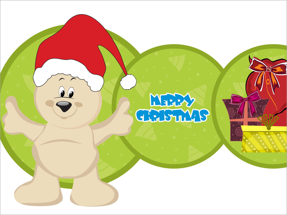 Xmas Background With Colorful Gift Bag