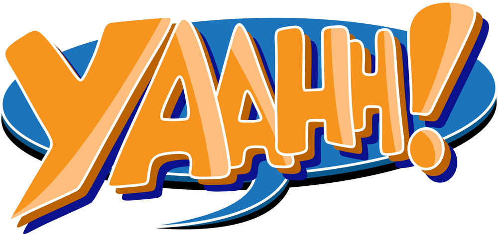 Yaah - Comic Shouting Expression Vector Text