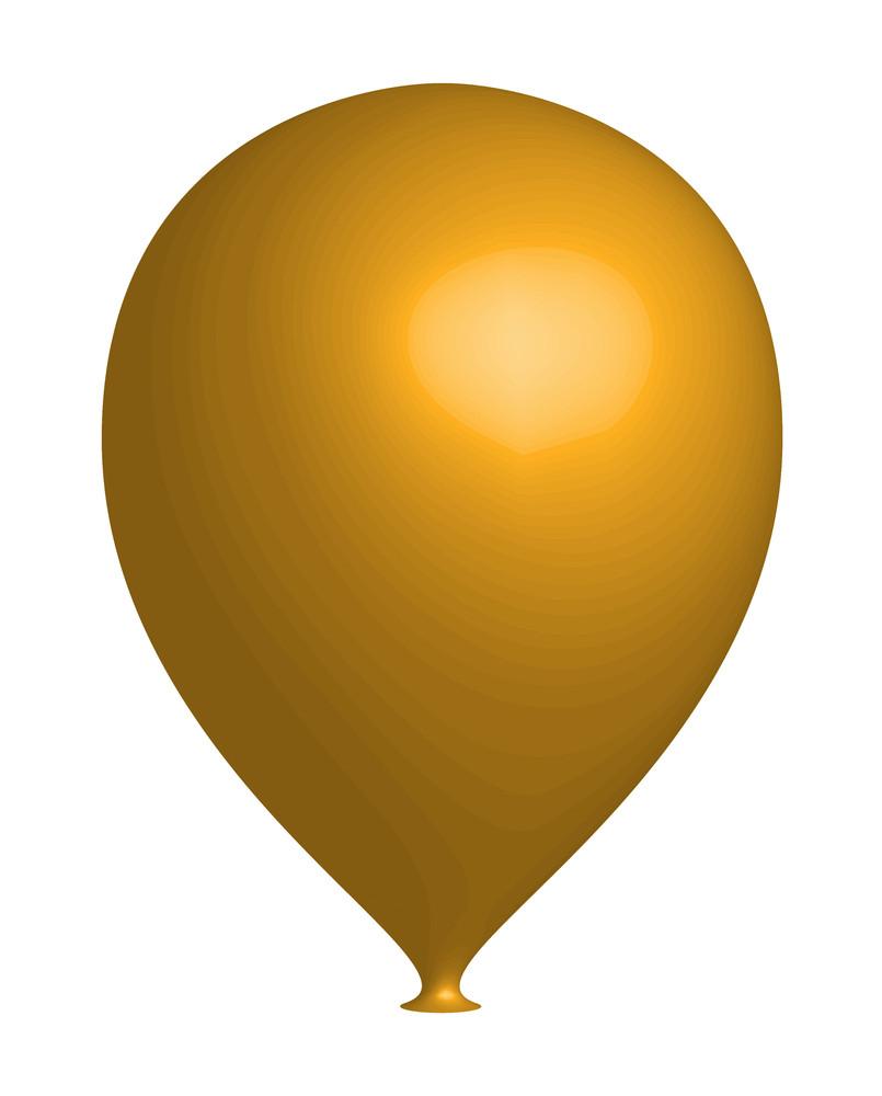 Yellow 3d Balloon Vector