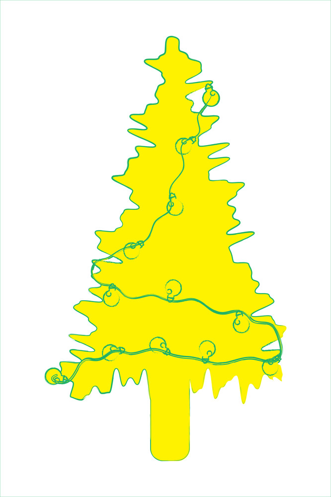 Yellow Abstract Christmas Tree