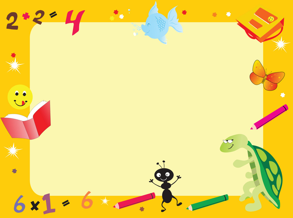 Yellow Abstract Frame For Kid