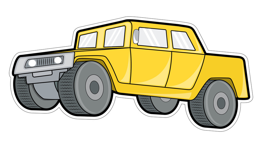 Yellow Ancient Jeep