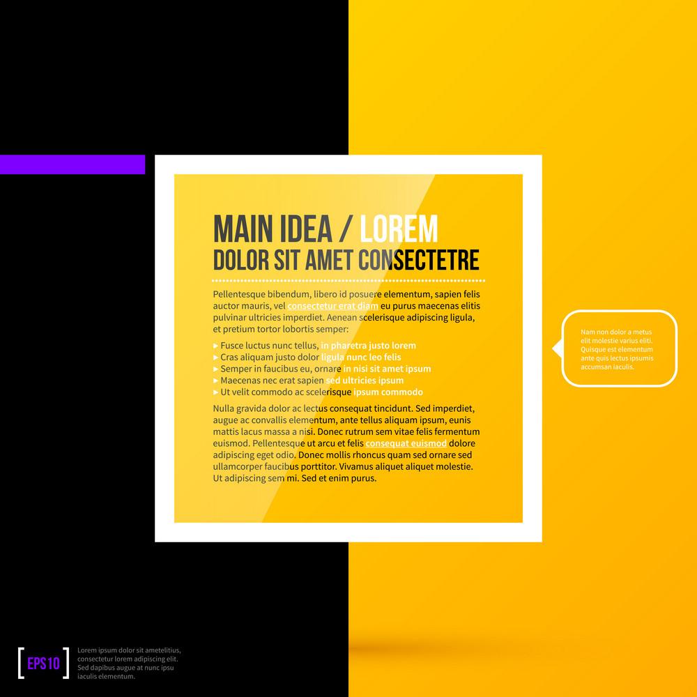 Minimalistic Text Background. Eps10