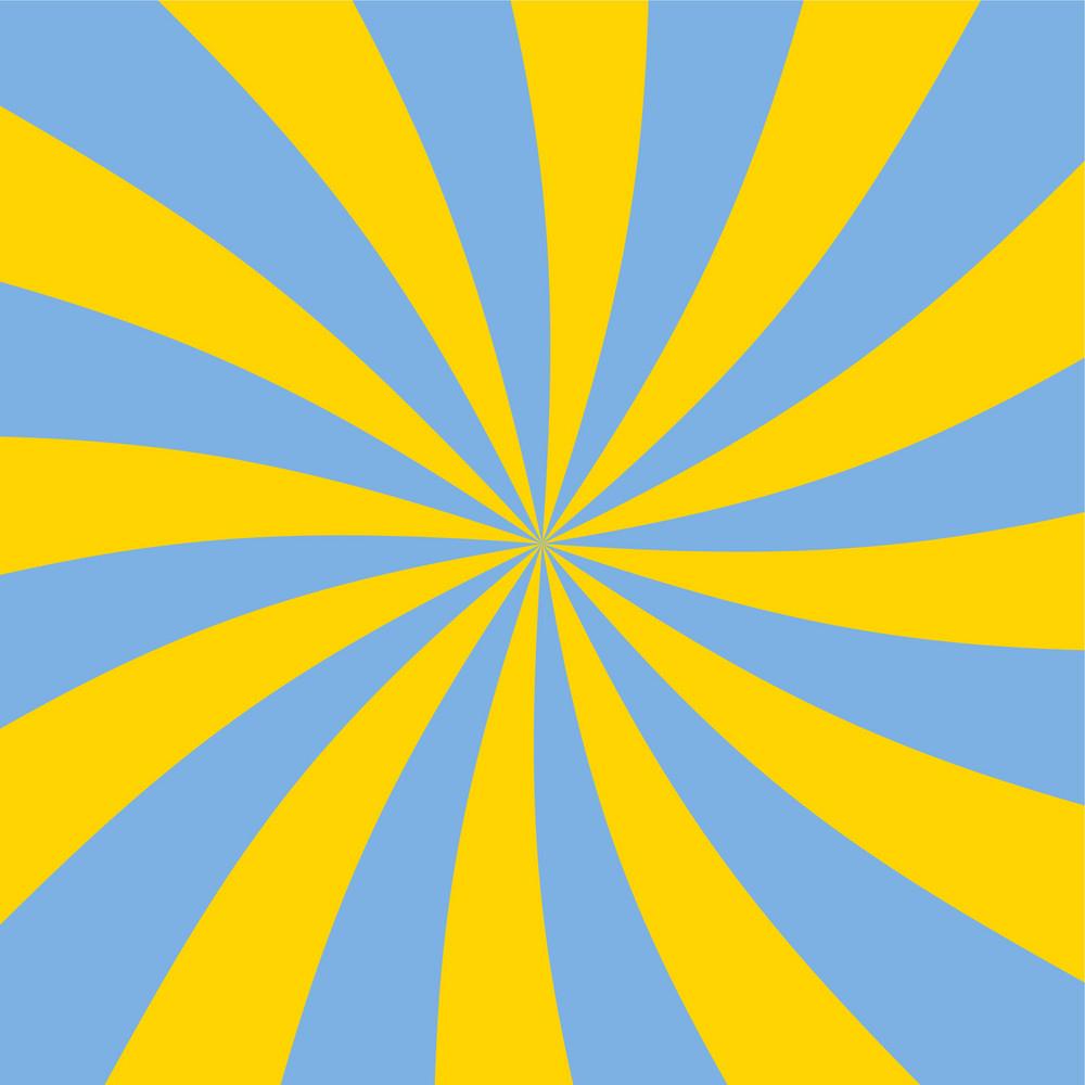 Yellow And Blue Swirled Car Pattern