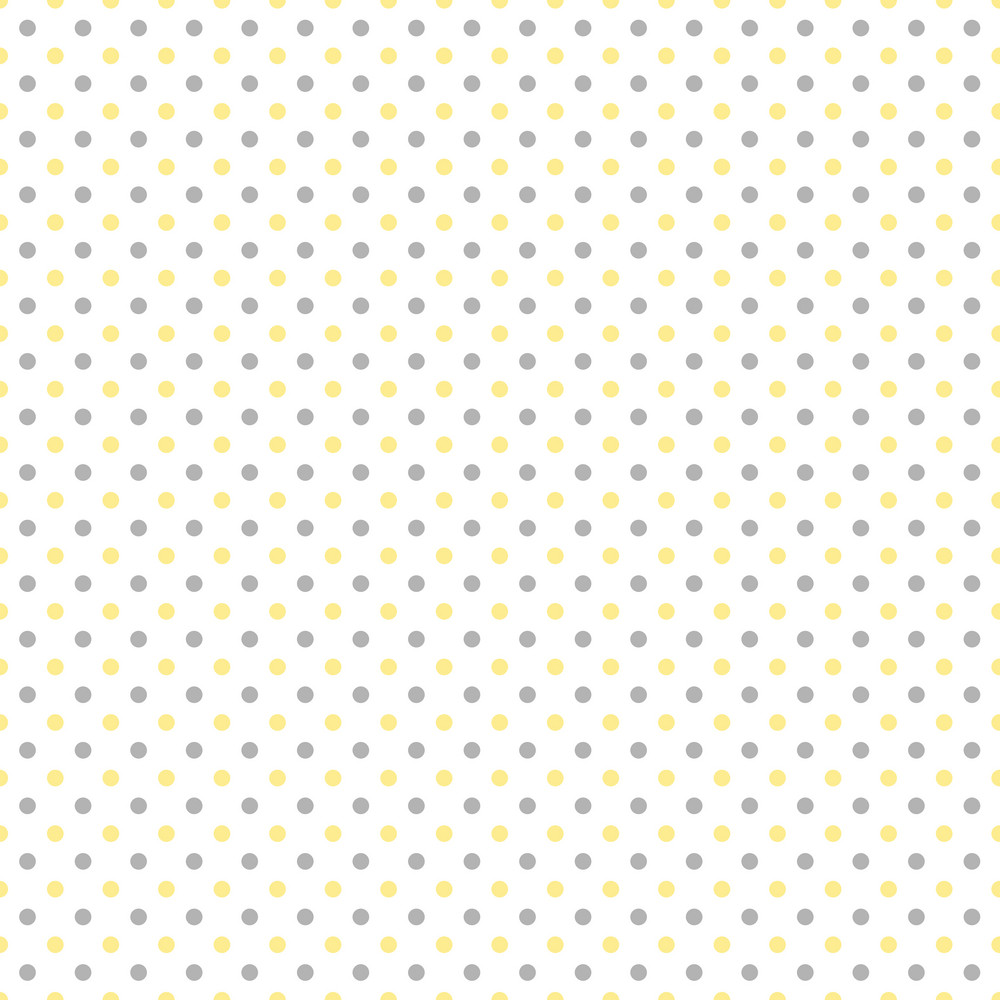 Yellow And Grey Polka Dots Pattern On A White Background ...
