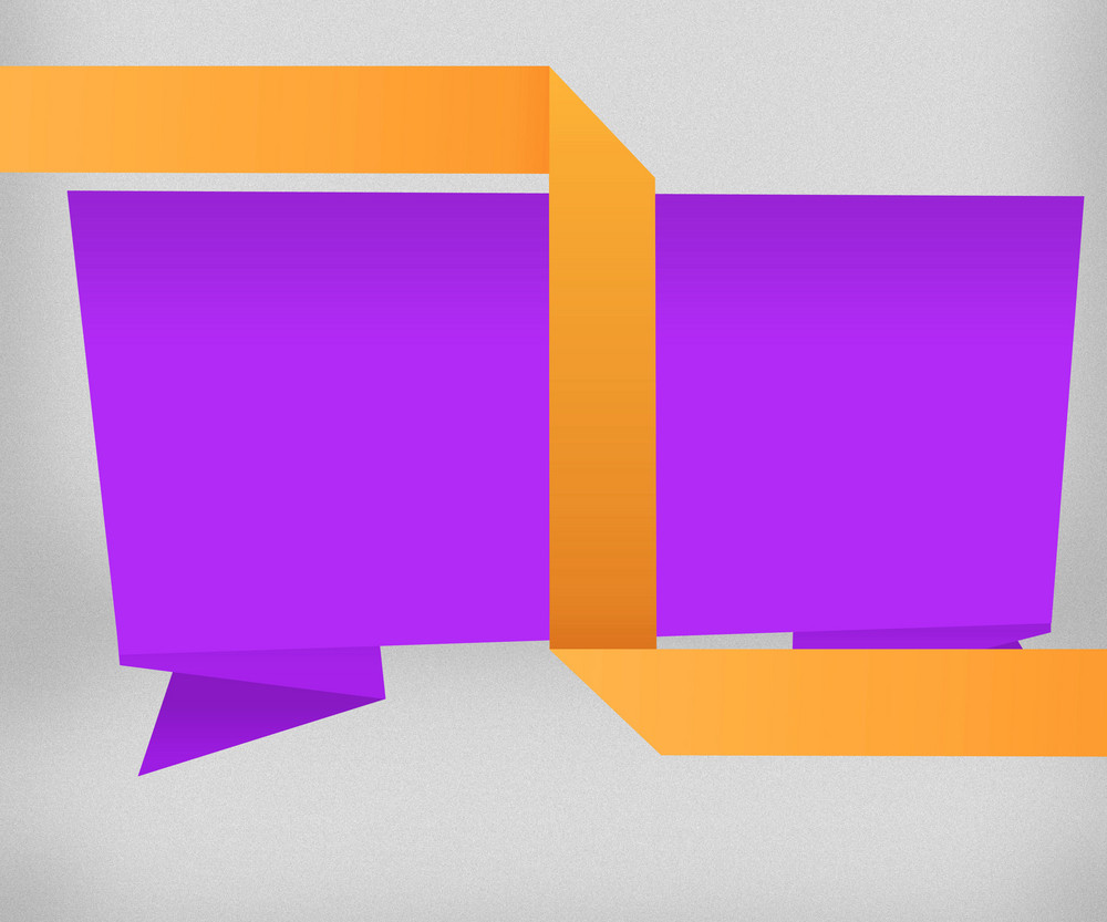 Yellow And Violet Origami Background