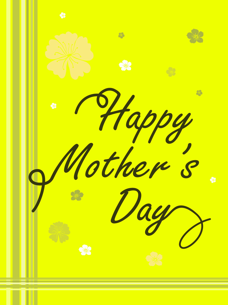 Yellow Background With Flower