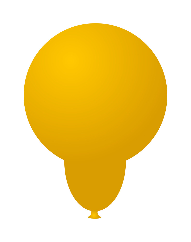 Yellow Balloon Shape Design
