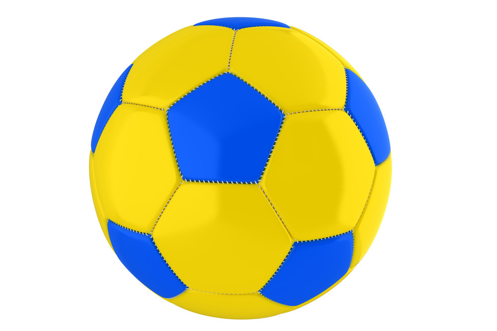 Yellow-blue Soccer Ball