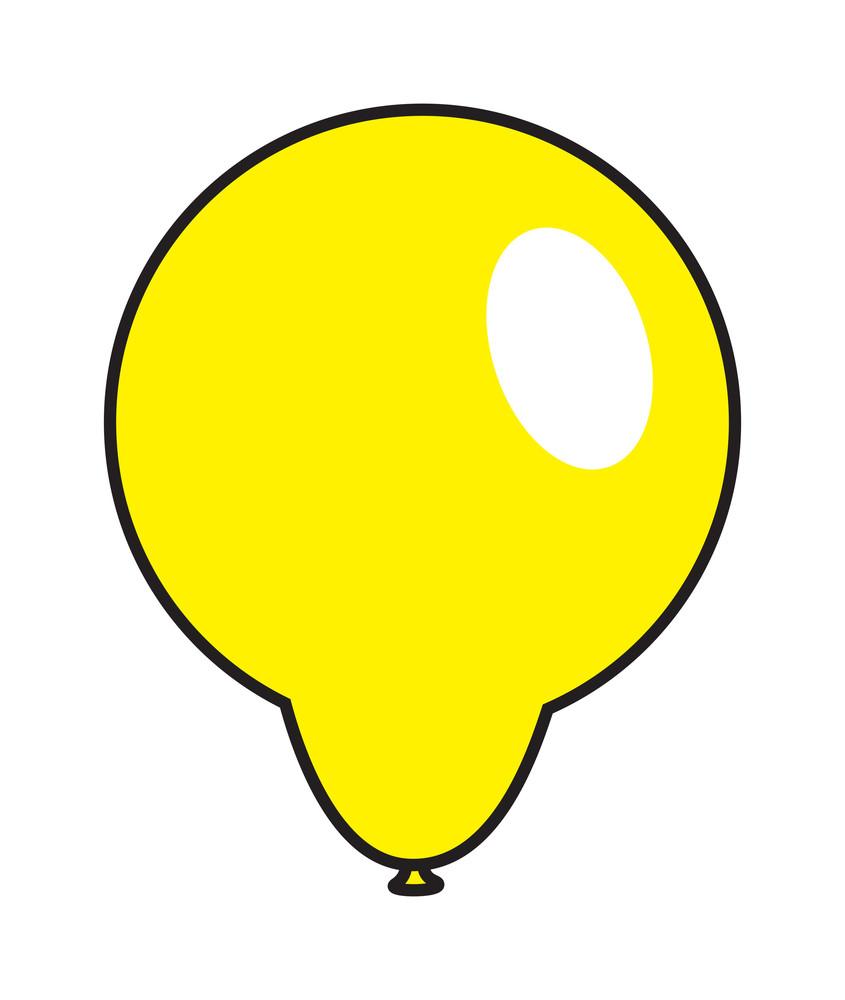 Yellow Bright Balloon