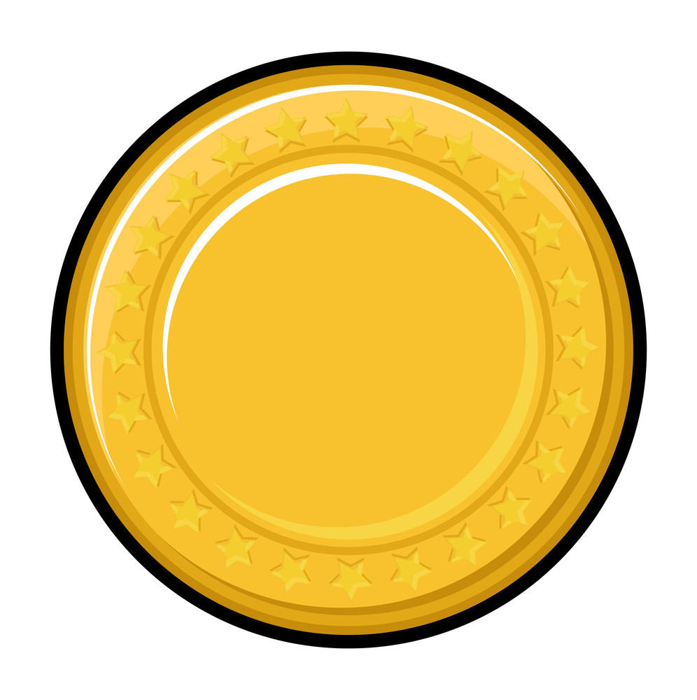 Yellow Coin Vector Design