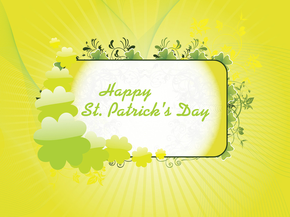 Yellow Color Patrick's Day Background 17 March