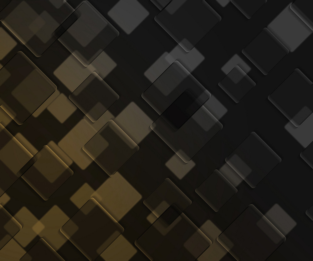 Yellow Dark Squares Background