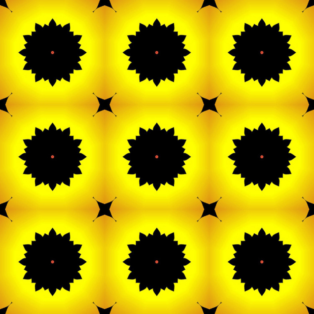 Yellow Floral Pattern Background Royalty Free Stock Image