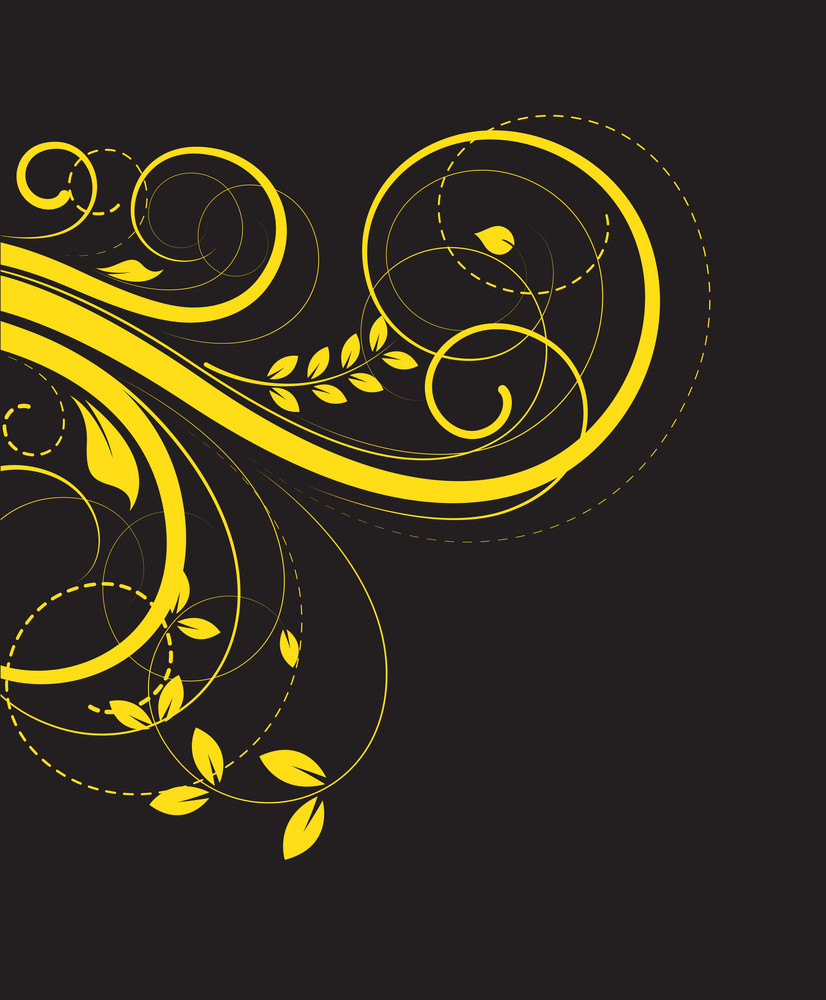Yellow Flourish Elements