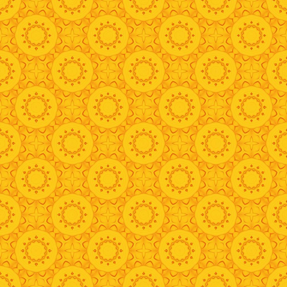 Yellow Flourish Pattern