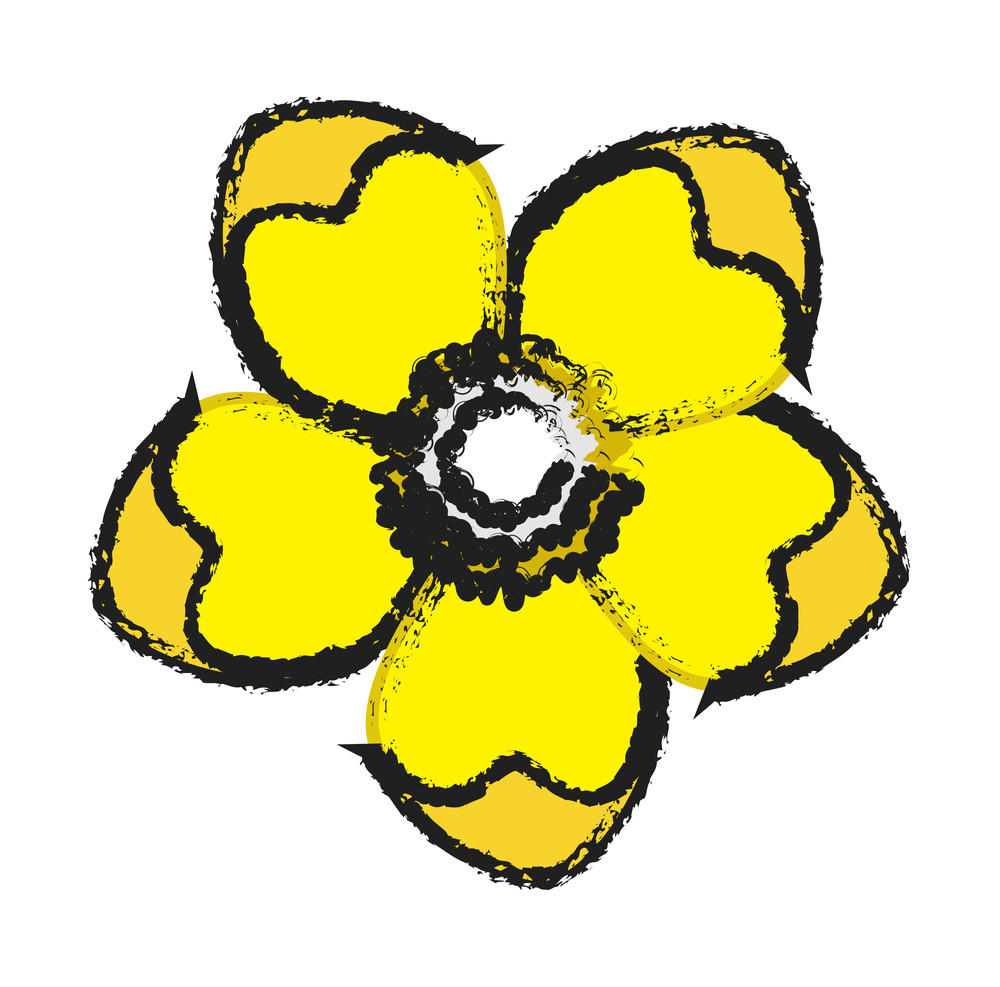 Yellow Flower Clipart Royalty Free Stock Image Storyblocks