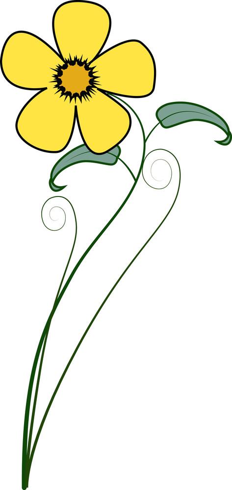Yellow Flower Element