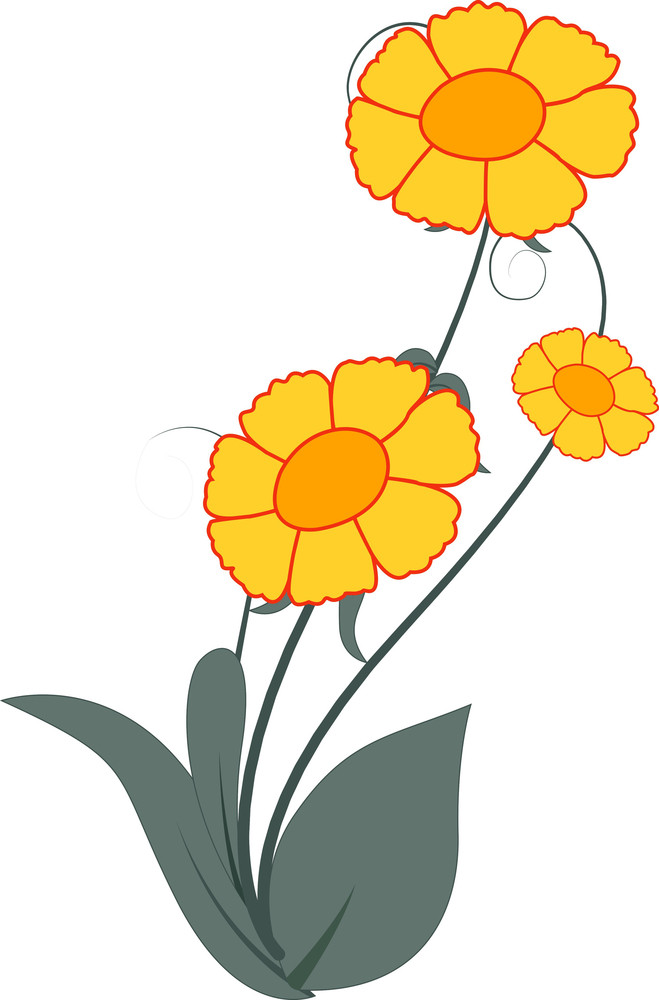 Yellow Flowers Clipart