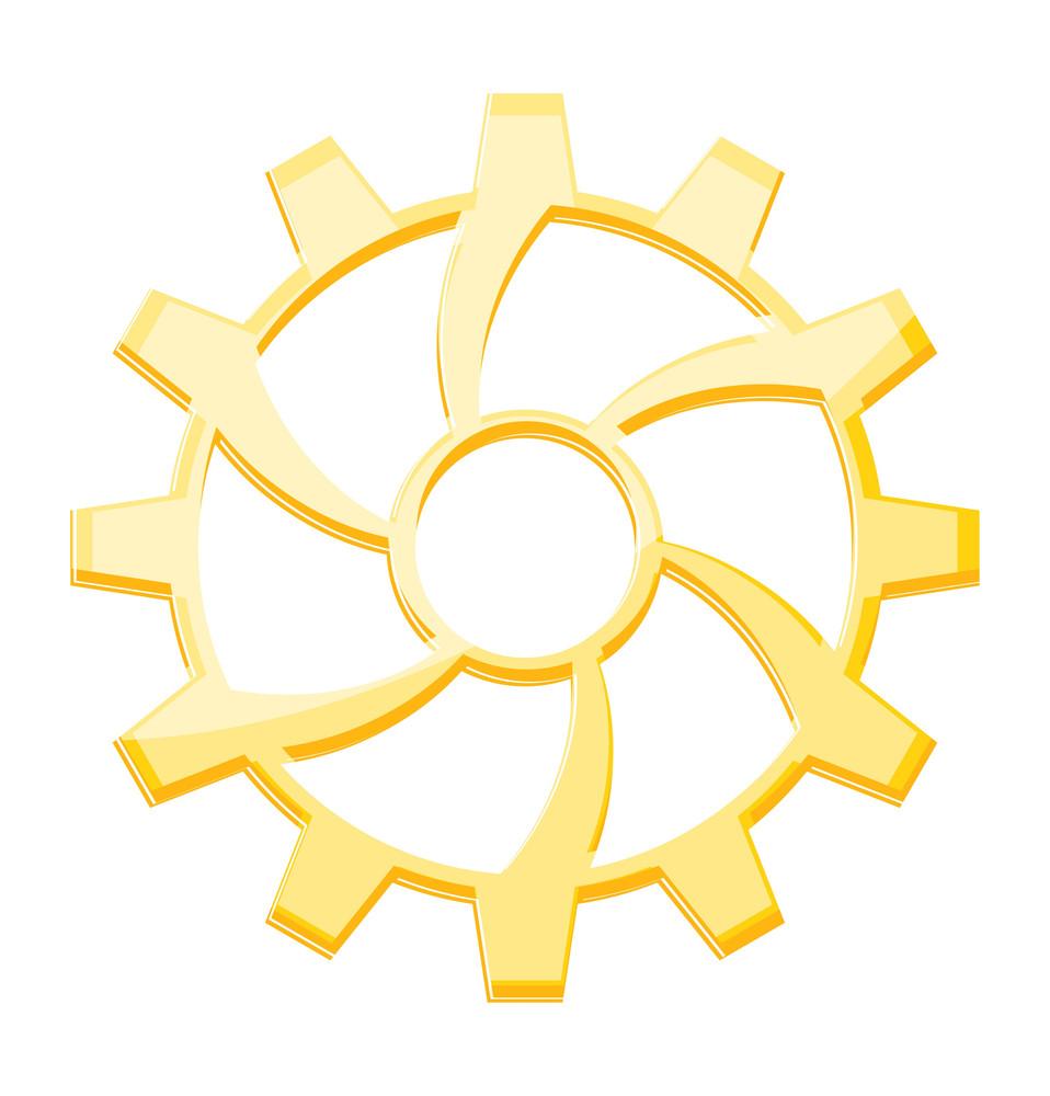 Yellow Gear Wheel