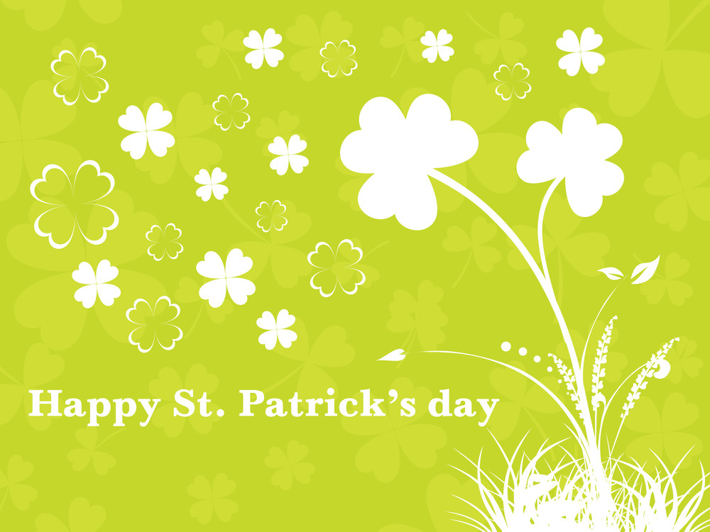 Yellow Green Background With Clover 17 March