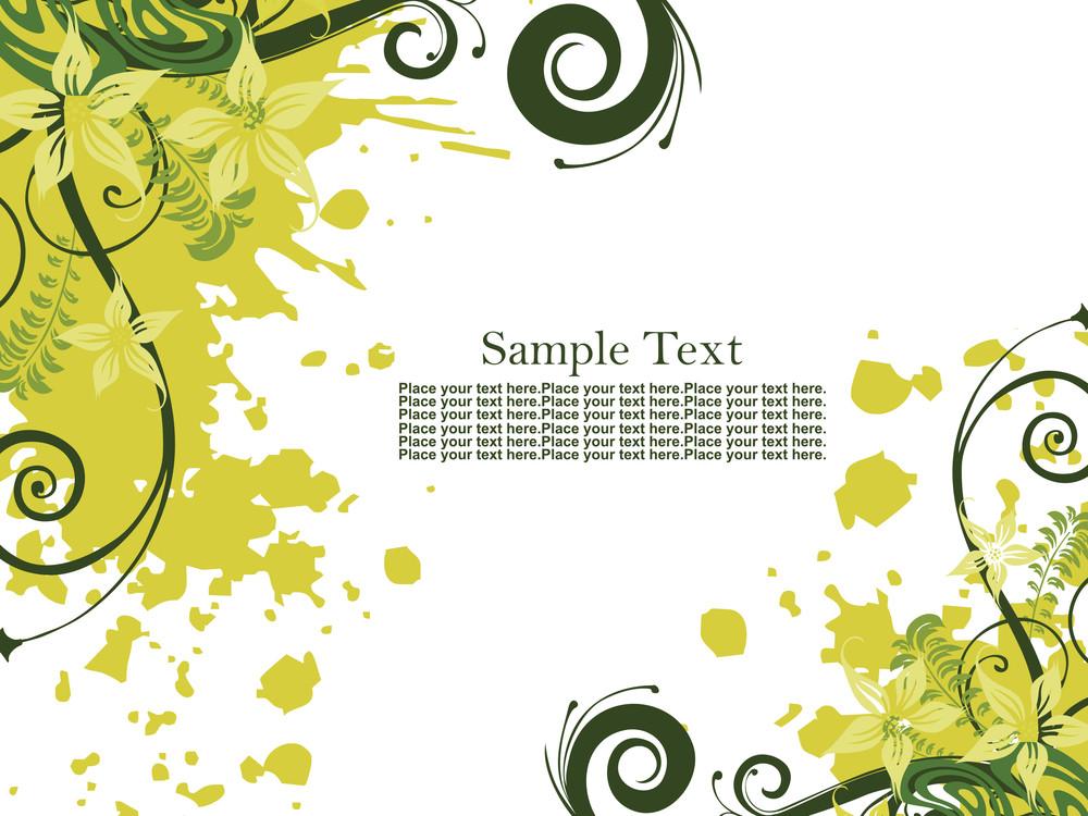 Yellow Green Grunge With Creative Design