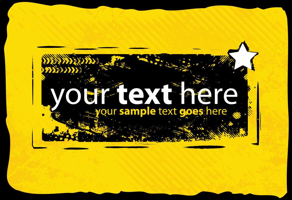 Yellow Grunge Banner Design