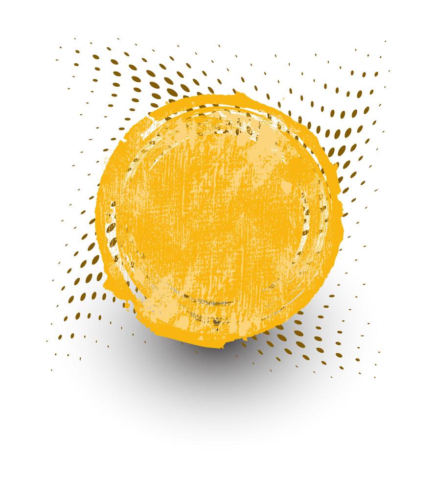Yellow Grunge Halftone Banner