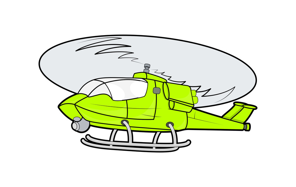 Yellow Helicopter Vector