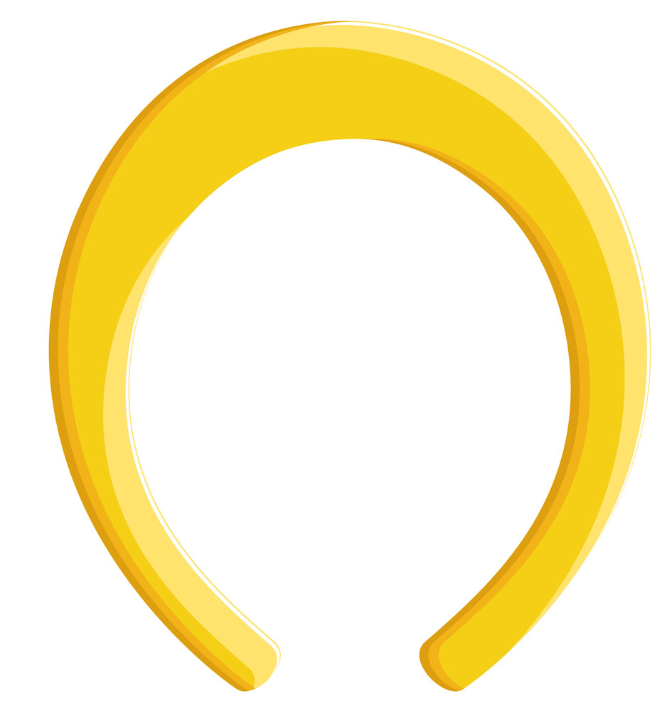 Yellow Horseshoe Shape