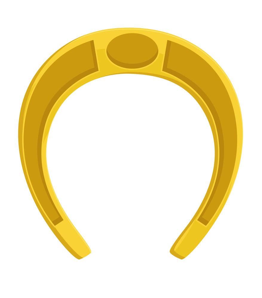 Yellow Horseshoe Vector Shape