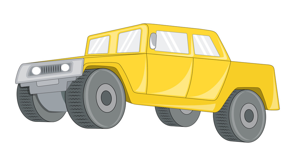 Yellow Jeep Vehicle