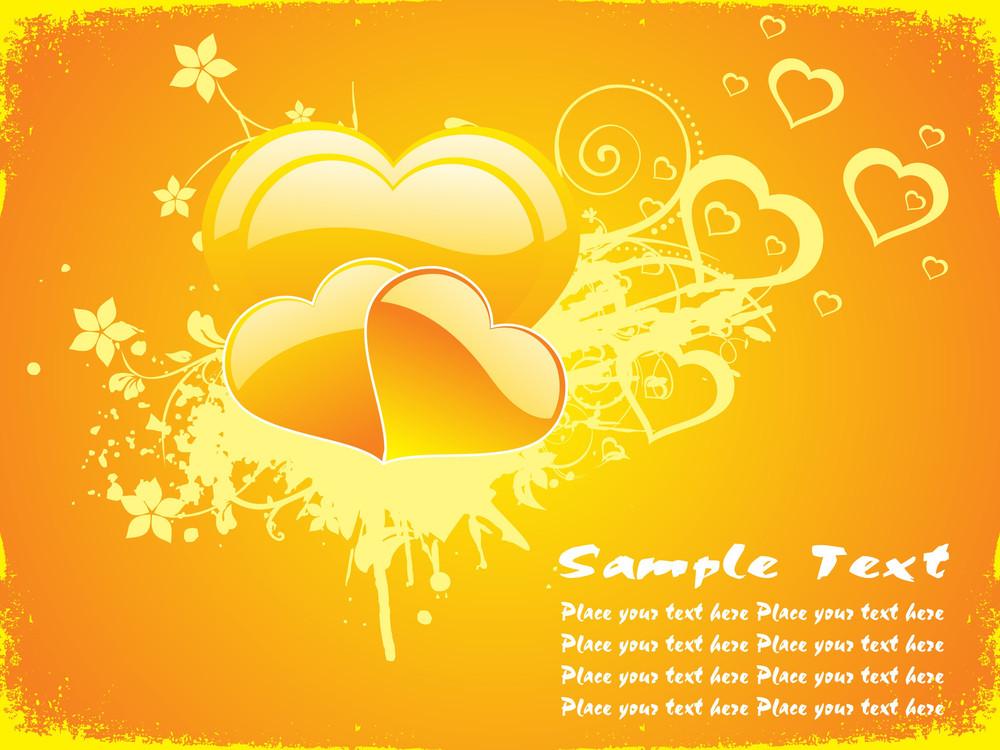 Yellow Love Background