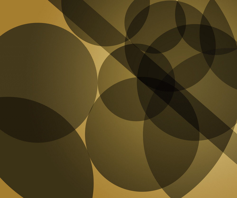 Yellow Modern Circles Background