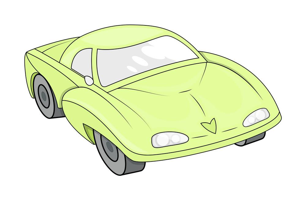 Yellow Modern Sports Car