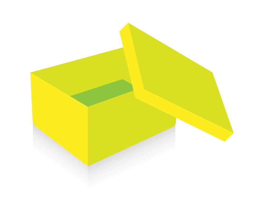 Yellow Open Box Vector