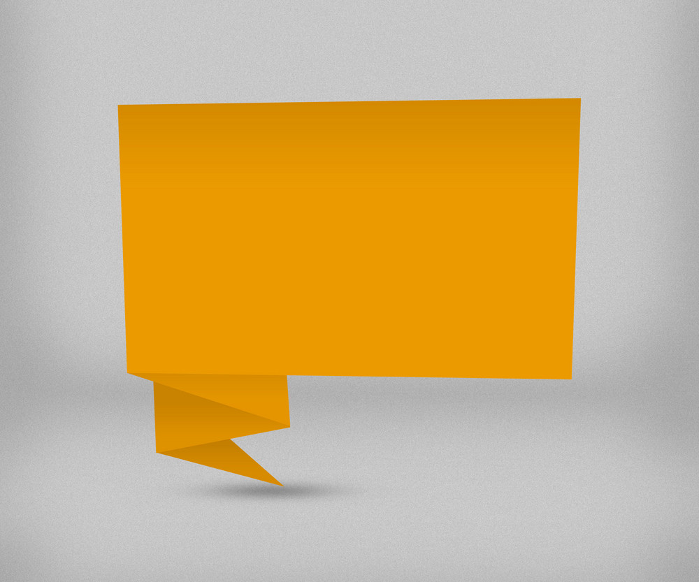Yellow Origami Background