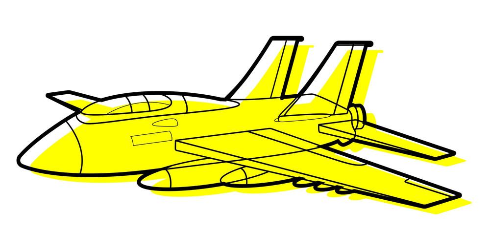 Yellow Plane Vector