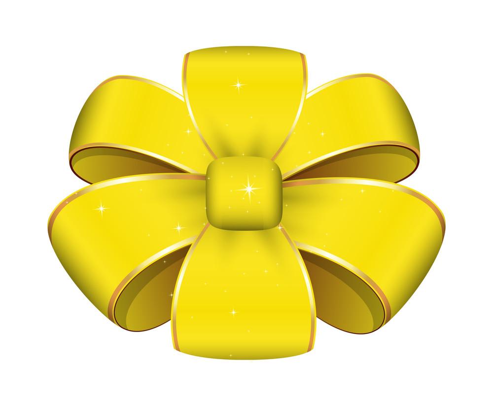 Yellow Ribbon Bow