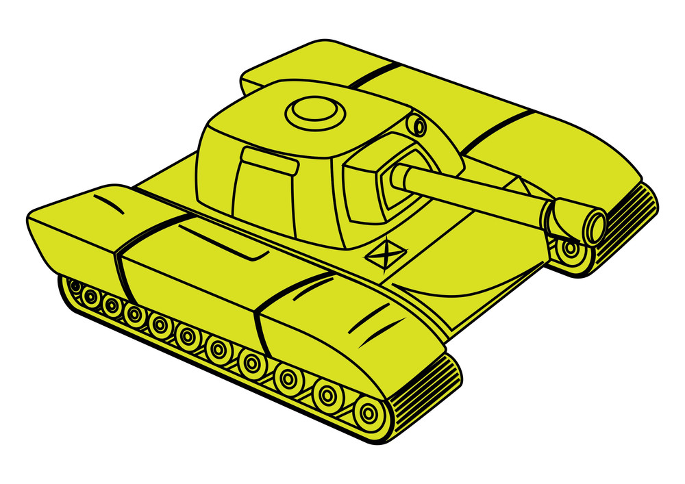 Yellow Tank Vector