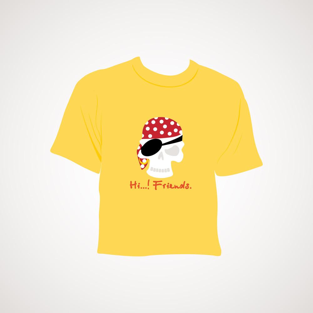 Yellow Tshirt With Grey Background