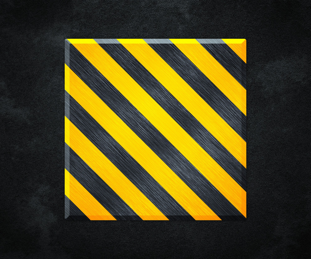 Yellow Under Construction Metal Plate Background
