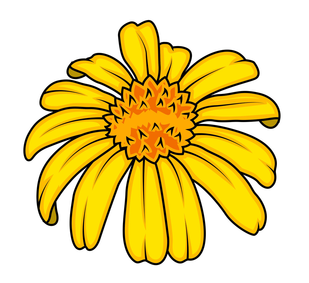 Yellow Vector Flower Design