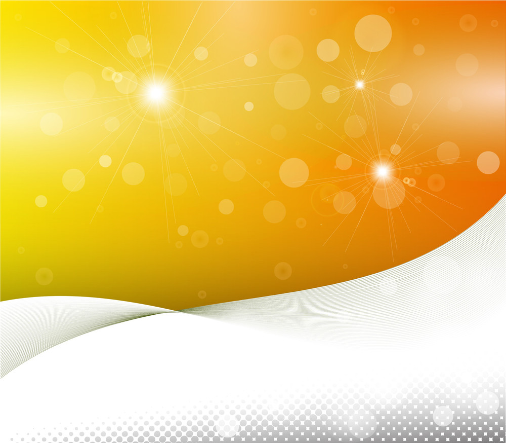 Yellow Wavy Abstract Presentation Background In Vector Format